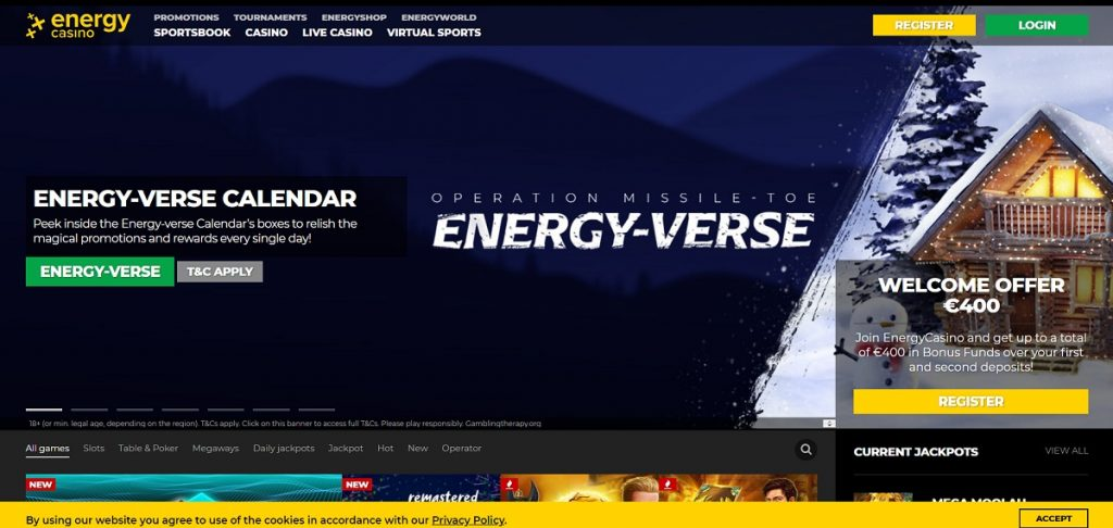Обзор онлайн-казино EnergyCasino