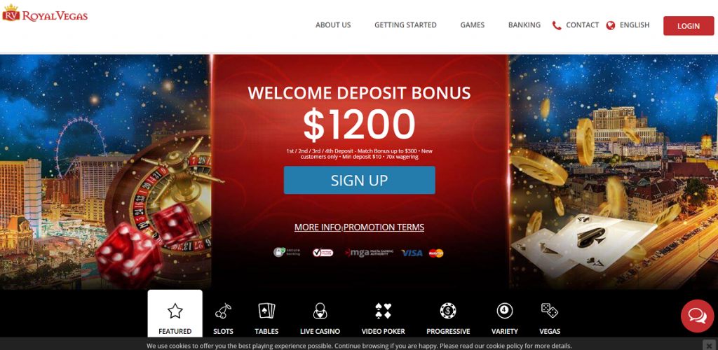 Обзор онлайн-казино Royal Vegas